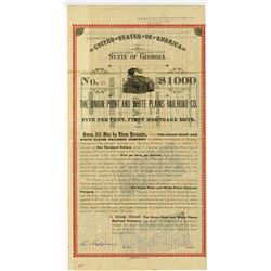 Union Point & White Plains Railroad Co., 1889 Issued Bond