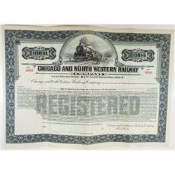 Chicago & North Western Railway Co 1920 Specimen Registered $10,000 Gold Bond
