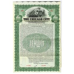 Chicago City Railway Co., 1907 Specimen Bond