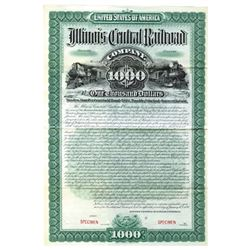 Illinois Central Rail Road Co., 1894 Specimen Bond
