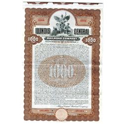 Illinois Central Rail Road Co., 1908 Specimen Bond