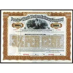 Peoria and North Western Railway Co., 1901, Registered Specimen Bond.