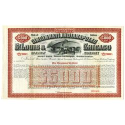 Cincinnati, Indianapolis, St. Louis & Chicago Railway Co., ca.1900-1920 Specimen Bond