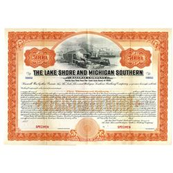 Lake Shore and Michigan Southern Railway Co., ca.1900-1910 Specimen Bond