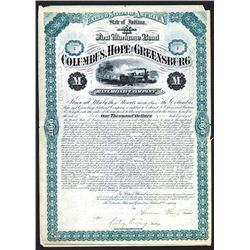 Columbus, Hope & Greensburg Railroad Co. 1882.