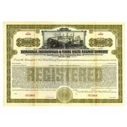 Evansville, Indianapolis and Terre Haute Railway Co., ca.1900-1910 Specimen Bond
