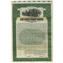 Gary Street Railway Co., 1917 Specimen Bond