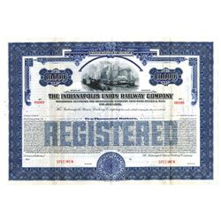 Indianapolis Union Railway Co., 1930 Specimen Bond