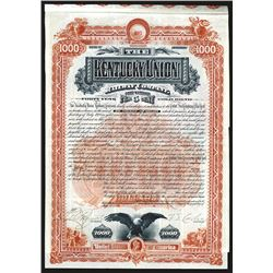 Kentucky Union Railway Co. 1888 Issued bond.