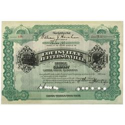 Louisville & Jefferson Bridge & Railroad Co., 1920 Cancelled Stock Certificate
