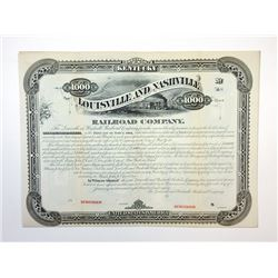 Louisville and Nashville Railroad Co., 1880 Specimen Bond