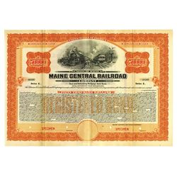 Maine Central Railroad Co., 1915 Specimen Bond