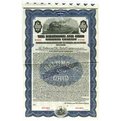Baltimore and Ohio Railroad Co., 1924 Specimen Gold Coupon Bond.