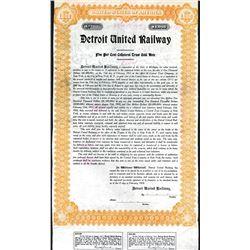 Detroit United Railway, 1910 Specimen Bond Used as a Model.