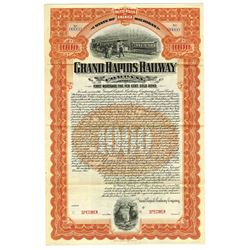 Grand Rapids Railway Co., 1900 Specimen Bond
