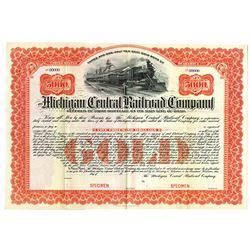 Michigan Central Railroad Co., ca.1900-1910 Specimen Bond