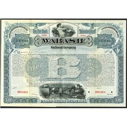 Wabash Railroad Co. ca.1900-1910 Specimen Bond