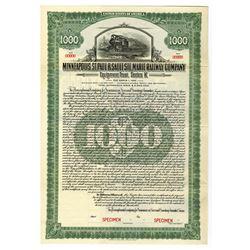 Minneapolis, St. Paul & Sault Ste. Marie Railway Co., 1923 Specimen Bond
