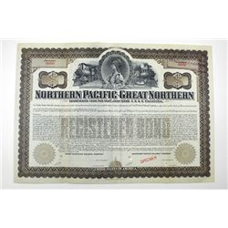Northern Pacific-Great Northern Railway Co. 1901 Specimen Bond.