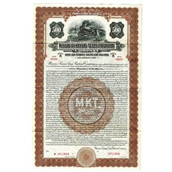 Missouri-Kansas-Texas Railroad Co., 1922 Specimen Bond