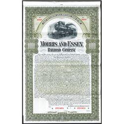 Morris and Essex Railroad Co., 1900, $1000 Specimen Bond.