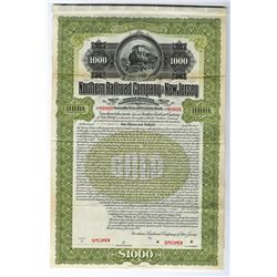 Northern Railroad Co. of New Jersey, 1900 Specimen Bond