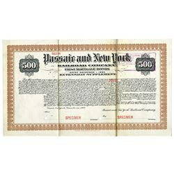 Passaic and New York Railroad Co., 1910 Specimen Bond