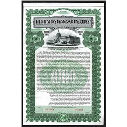 Richmond-Washington Co. 1904 Specimen Coupon Bond.