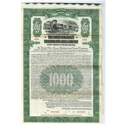 United New Jersey Railroad and Canal Co., 1923 Specimen Bond