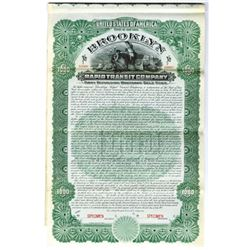 Brooklyn Rapid Transit Co., 1902 Specimen Bond