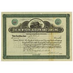 New York, Auburn and Lansing Railroad Co., 1910 I/U Stock Certificate.