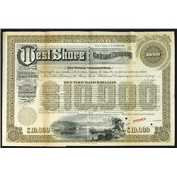 West Shore Railroad Co. 1885 Specimen Bond