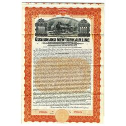 Boston and New York Air Line Railroad Co., 1905 Specimen Bond