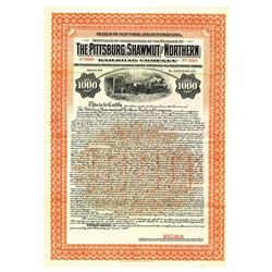 Pittsburg, Shawmut and Northern Railroad Co., 1910 Specimen Bond