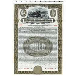 New York, Chicago and St. Louis Railroad Co., 1928 Specimen Bond