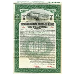 Cleveland, Cincinnati, Chicago and St. Louis Railway Co., 1919 Specimen Bond