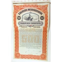 Eastern Pennsylvania Railways Co., 1906 Specimen Bond