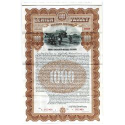 Lehigh Valley Railroad Co., 1903 Specimen Bond