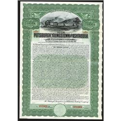 Pittsburgh, Youngstown and Ashtabula Railway Co. 1908 Specimen Bond