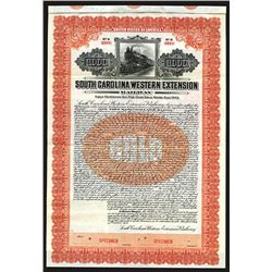 South Carolina Western Extension Railway - 1st Mortgage 6% Gold Bond