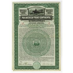 Pan American Trans-Continental Railway Co. Uruguay Section, 1910 I/U Bond.