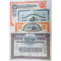 Railroad Related Stock and Bond Certificate assortment, ca.1880-1963