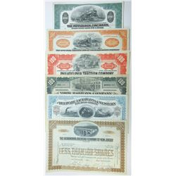 Railroad Related Stock and Bond Certificates Assortment, ca.1880-1966