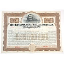 Rock Island, Arkansas & Louisiana Railroad Co. 190x  Specimen Bond.