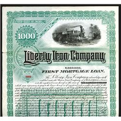 Liberty Iron Co., 1890, $1000 Specimen Bond.