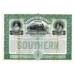 Southern Railway Co. Memphis Division, ca.1900-1910 Specimen Bond