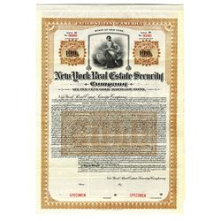 New York Real Estate Security Co., 1911 Specimen Bond