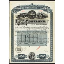 City of Portland Specimen Bond.