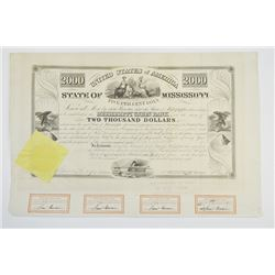 State of Mississippi, 1838 Issued Bond