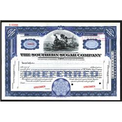 Southern Sugar Co., ND ca.1910-20's Specimen Stock Certificate.